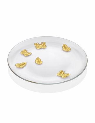 Chiara Alessi Altın Kelebekli 27,5 cm Tabak CABFY1316