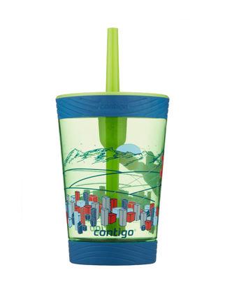 Contigo Spill Proof Tmbler Suluk Yeşil Süper Kahraman 420 ml 1000-0770