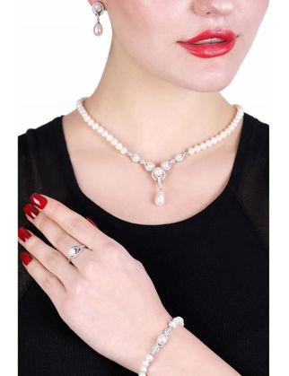 Lulu Jewelery Gelin İncili Gümüş Set LL0169