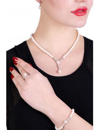 Lulu Jewelery Su Yolu İncili Gümüş Set M2 LL0172