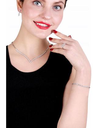 Lulu Jewelery Su Yolu Gümüş Set Model 1 LL0175