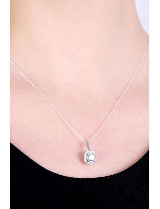 Lulu Jewelery Kare Gümüş Baget Set LL0179