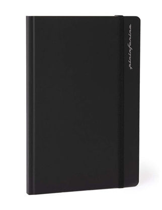 Pininfarina Stone Paper Defter Noktalı Siyah PNF1421DOBK