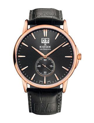 Edox Les Bémonts Big Date 64012-37R-NIR