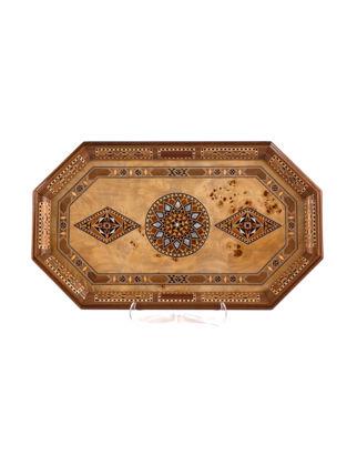 Helena Wood Art Tiryaki Bombe Orta Tepsi (48x28x3 cm) 28641.MAZP