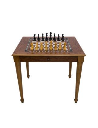 Helena Wood Art Satranç Masası Torna Ayak (70x80x72 cm) Çekmeceli 9312.ROS