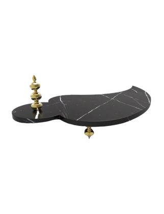 Anatoli Damla Peynir Tabağı Siyah Mermer Altın Kaplama 8680571832303
