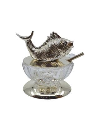 Anatoli Havyarlık Balık Tepelikli Gümüş Kaplama/Şeffaf Cam 8680571852608