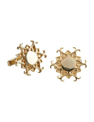 Anatoli Işıltı Kol Düğmesi Gümüş Üzeri Altın Kaplama 8680571802399