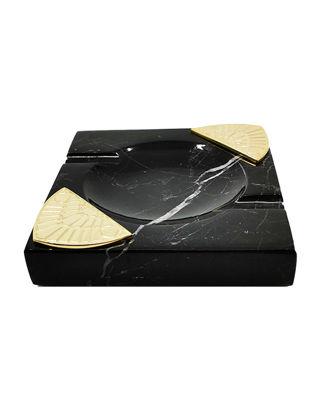 Anatoli Işın Küllük Siyah Mermer/Altın Kaplama 8680571832266