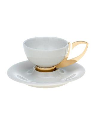 Anatoli Kahve Fincanı Takımı Damla 2'li Altın Kaplama/Porselen 8680571832136