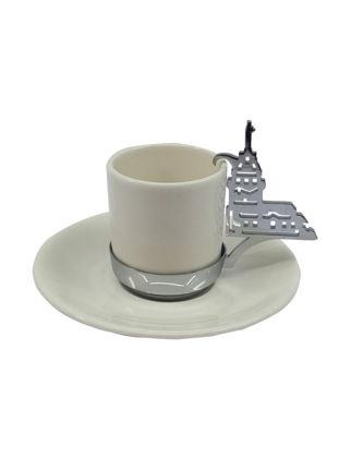 Anatoli Kız Kulesi Kahve Fincanı Koleksiyonerlere Özel Krom Kaplama 8680571844481
