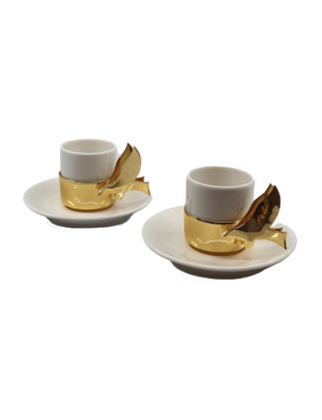 Anatoli Müjde Fincan Takımı 2'li Altın Kaplama/Porselen 8680571853742