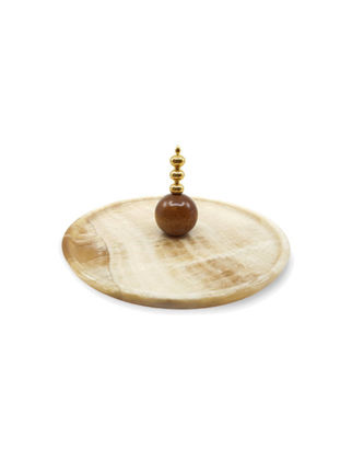 Anatoli Peynir Tabağı Cevher Küçük Boy Altın Kaplama/Onix 8680571837650