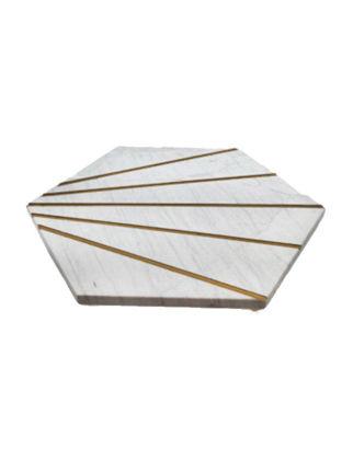 Anatoli Tepsi Petek 26x30x3 cm Beyaz Mermer 8680571840988