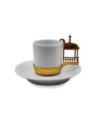 Anatoli Topkapı Sarayı Fincan Kameriyesi Porselen Tabaklı Tekli Altın Kaplama/Porselen 8680571848724