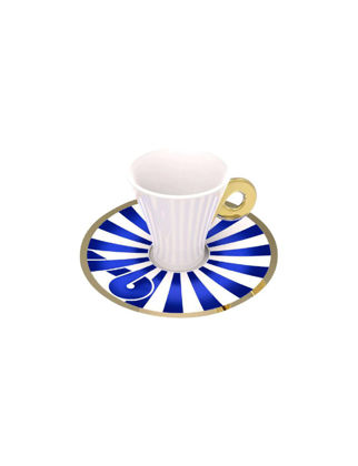 Anatoli Zencerek Kahve Fincanı Takımı 2'li Altın Dekor (4 Parça) 8680571822793