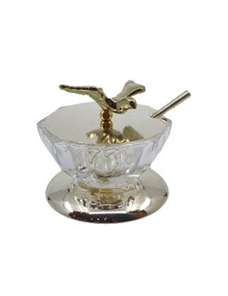 Anatoli Havyarlık Kuş Tepelikli Altın Kaplama/Şeffaf Cam 8680571852615