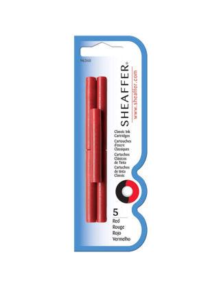 Sheaffer 96340 Kartuş Kırmızı 5'li Blister TSH9634000001A