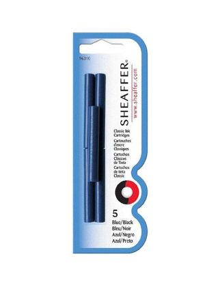 Sheaffer 96213 Kartuş Mavi/Siyah 6'lı Paket TSH9621300001A