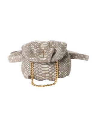 Otrera Tiny Belty Gray Snake Çanta TB-103
