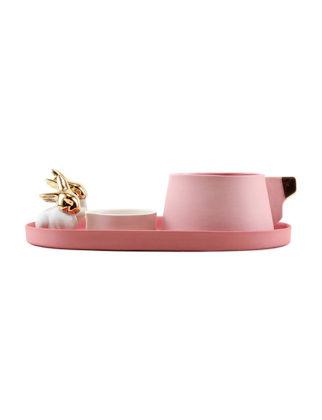 Magie Design Altın Pembe Tavşan Filtre Kahve Seti 35001