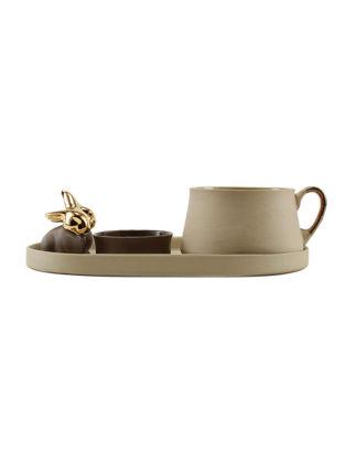 Magie Design Kahverengi Tavşan Filtre Kahve Seti 35012