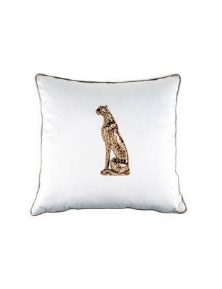 Accract Bej Biye Ve Çita Figürü Desenli Kırlent Ve Kırlant Kılıfı ACYK-4242
