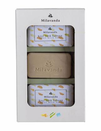 Milavanda 3'lü Keçi Sütlü Katı Sabun Seti 8682923370129