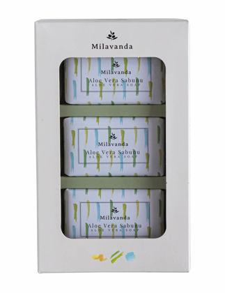 Milavanda 3'lü Aloe Vera Katı Sabun Seti 8682923370136