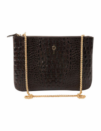 Otrera Clutch Brown Pearl Çanta CLTCH-113