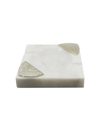 Anatoli Işın Küllük Beyaz Mermer/Gümüş Kaplama 8680571832259
