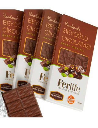 Ferlife Antep Fıstıklı Tablet Çikolata 100 gr 10'lu 52654521403