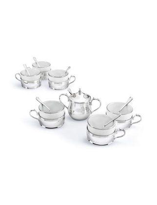 Chinelli SRL Inglese Şekerlikli 6'lı Çay Seti 2033301