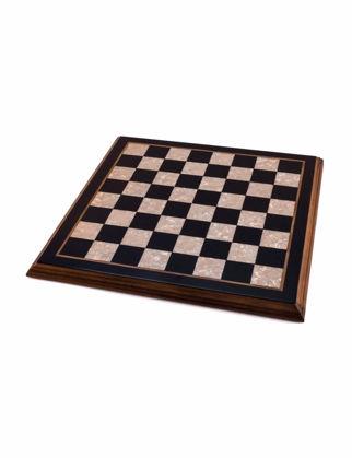 Helena Wood Art Flat Simple Satranç Altı (40x40 cm) 2677.BLK