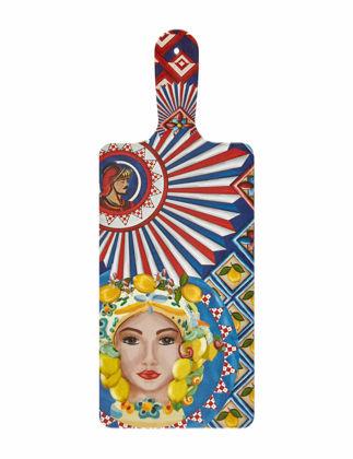 Chiara Alessi Positano Kadın Yüz Desenli Sunum Tahtası 17,5x32,5 cm CA796SF