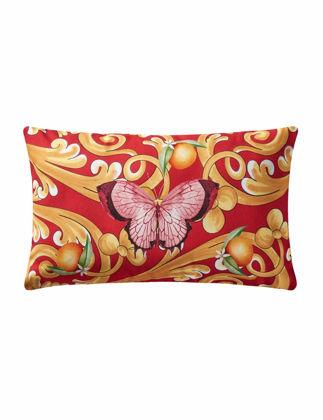 Chiara Alessi Capri Yastık Kırmızı Kelebek Desenli 35x50 cm CATY3550PLRD