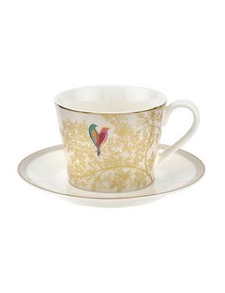 Portmeirion Chelsea Collection Çay Fincanı+Tabağı Açık Gri RW.SMCY.78924-XG