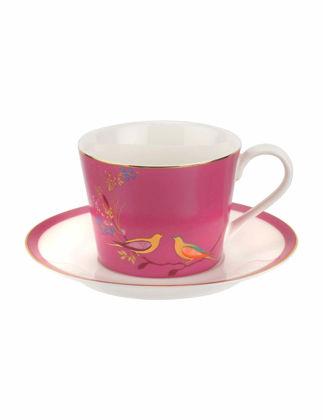 Portmeirion Sara Miller Chelsea Çay Fincanı+Tabağı Pembe RW.SMCP.78924-XG