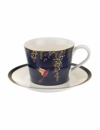 Portmeirion Sara Miller Chelsea Çay Fincanı+Tabak Lacivert RW.SMCN.78924-XG