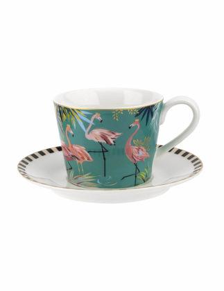 Portmeirion Tahiti Çay Fincanı+Tabağı-Flamingo RW.SMTF.78924-XG