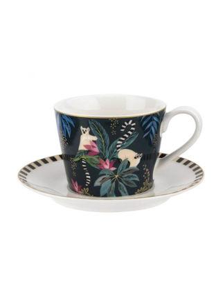 Portmeirion Tahiti Çay Fincanı+Tabağı-Lemur RW.SMTL.78924-XG