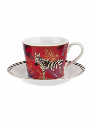 Portmeirion Tahiti Çay Fincanı+Tabağı-Zebra RW.SMTZ.78924-XG