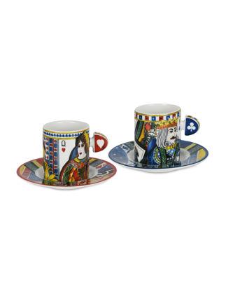 Baci Milano Regina 2'li Porselen Kahve Fincanı Seti XCOF.REG01