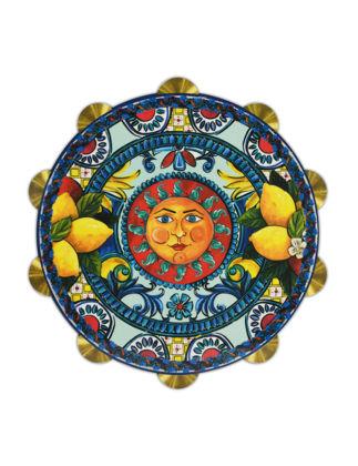 Baci Milano Tamburello Güneş Kesme Tahtası Büyük 30 cm - Mavi JDRUM1.SIC03