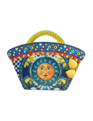 Baci Milano Bag Güneş Kesme Tahtası Küçük 22,5x18 cm - Mavi JCOFF2.SIC03