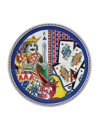 Baci Milano Regina Kral Yuvarlak Amerikan Servis 35 cm CHAR.REG02