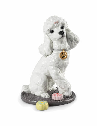 Lladró Poodle with Mochis Dog Biblo 01009472