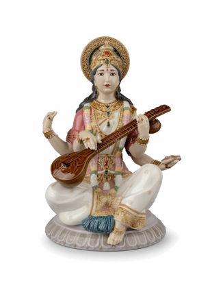 Lladró Goddess Saraswati Biblo 01009486