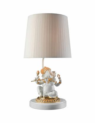 Lladró Bansuri Ganesha Masa Lambası Parlak Altın (CE) 01023162